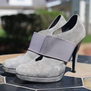 Jessica Simpson Grey Suede Keyhole Heel Size 7.5